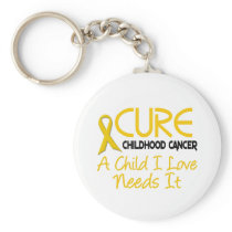 Childhood Cancer Awareness CURE Keychain