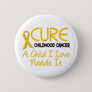 Childhood Cancer Awareness CURE Pinback Button