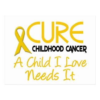 Childhood Cancer Awareness CURE Postcard