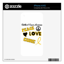 Childhood Cancer Awareness Decal For iPhone 4