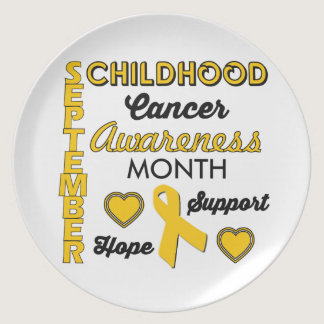 Childhood Cancer Awareness Dinner Plate