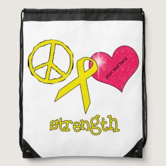 Childhood Cancer Awareness Drawstring Backpack