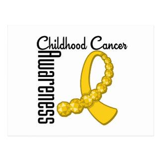 Childhood Cancer Awareness Gemstone Ribbon Postcard