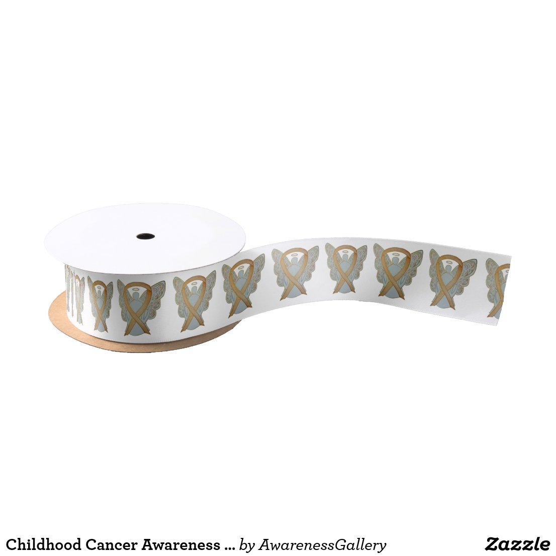 Childhood Cancer Awareness Gold Angel Ribbons