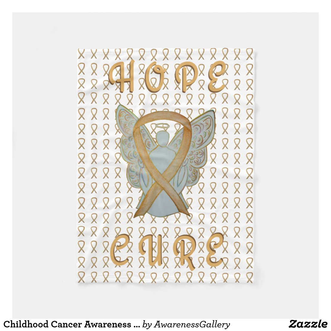 Childhood Cancer Awareness Gold Ribbon Blanket