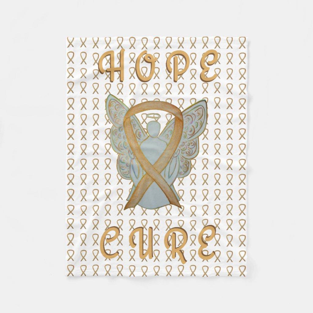 Childhood Cancer Awareness Gold Ribbon Blanket