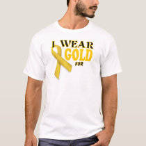 Childhood Cancer Awareness Gold Ribbon Template T-Shirt