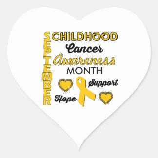 Childhood Cancer Awareness Heart Sticker