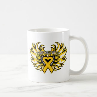 Childhood Cancer Awareness Heart Wings.png Coffee Mugs
