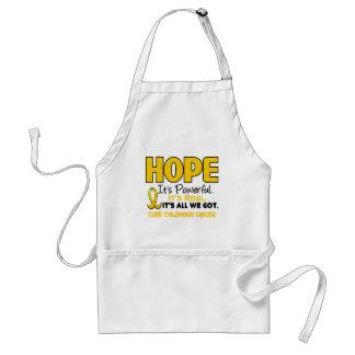 Childhood Cancer Awareness HOPE 1 Adult Apron