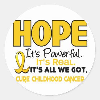 Childhood Cancer Awareness HOPE 1 Classic Round Sticker