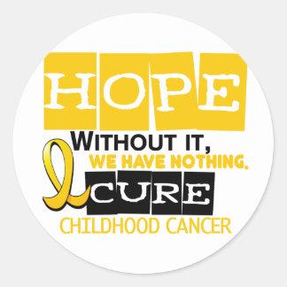Childhood Cancer Awareness HOPE 2 Classic Round Sticker