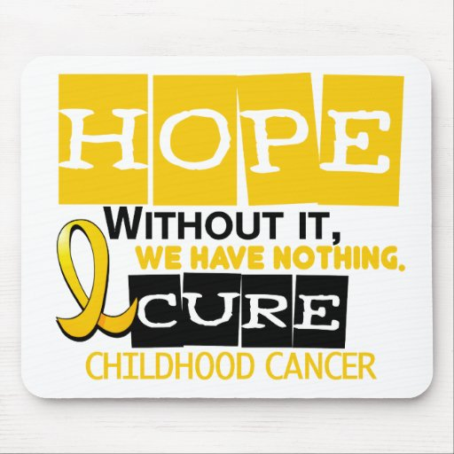 Childhood Cancer Awareness HOPE 2 Mouse Pad