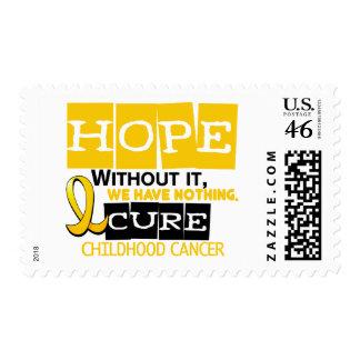 Childhood Cancer Awareness HOPE 2 Postage Stamps