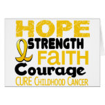Childhood Cancer Awareness HOPE 3 Card