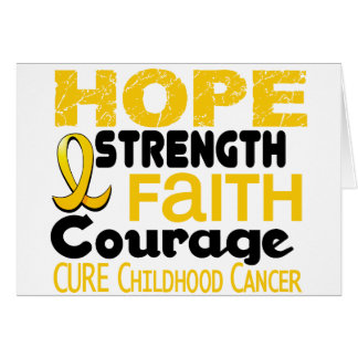 Childhood Cancer Awareness HOPE 3 Greeting Card