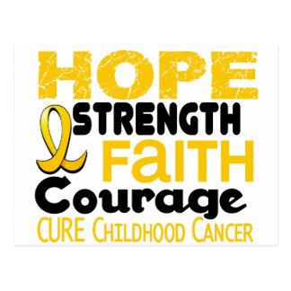 Childhood Cancer Awareness HOPE 3 Post Card