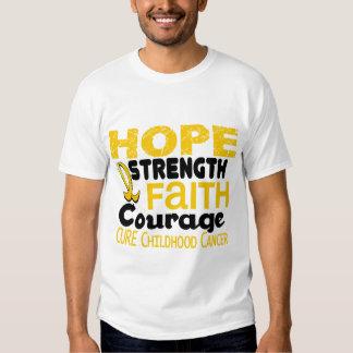 Childhood Cancer Awareness HOPE 3 Tshirt