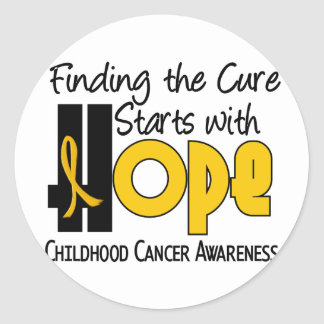 Childhood Cancer Awareness HOPE 4 Classic Round Sticker