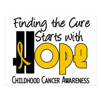 Childhood Cancer Awareness HOPE 4 Post Cards