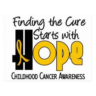 Childhood Cancer Awareness HOPE 4 Postcard