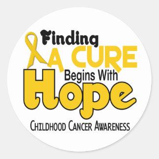 Childhood Cancer Awareness HOPE 5 Classic Round Sticker