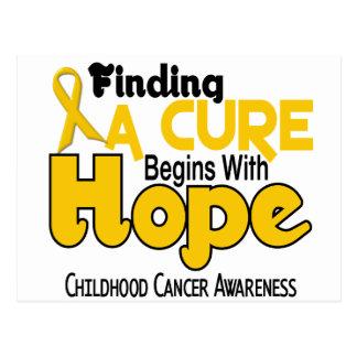Childhood Cancer Awareness HOPE 5 Postcards