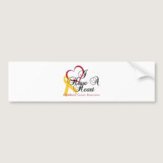 Childhood Cancer Awareness I Have A Heart Bumper Sticker