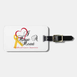 Childhood Cancer Awareness I Have A Heart Luggage Tag