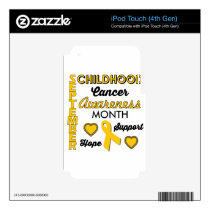 Childhood Cancer Awareness iPod Touch 4G Skin