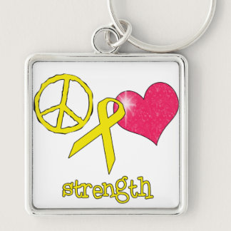 Childhood Cancer Awareness Keychain