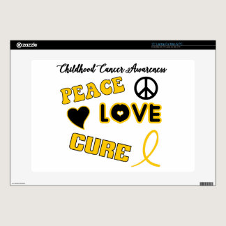 Childhood Cancer Awareness Laptop Skins
