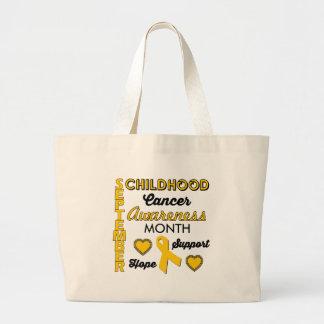 Childhood Cancer Awareness Large Tote Bag