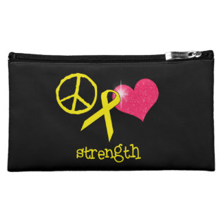 Childhood Cancer Awareness Makeup Bag