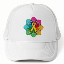 Childhood Cancer Awareness Matters Petals Trucker Hat