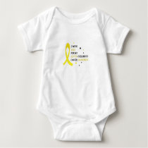 Childhood Cancer Awareness Meet My Hero Fightings Baby Bodysuit