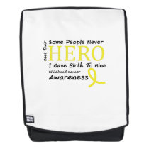 Childhood Cancer Awareness Meet My Hero Fightings Backpack