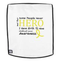 Childhood Cancer Awareness Meet My Hero Fightings Backpack