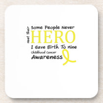 Childhood Cancer Awareness Meet My Hero Fightings Beverage Coaster