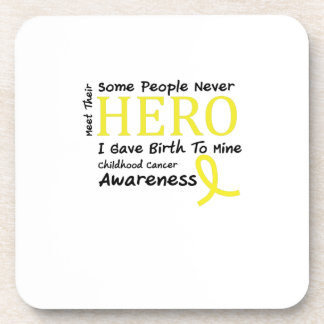 Childhood Cancer Awareness Meet My Hero Fightings Beverage Coaster