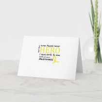 Childhood Cancer Awareness Meet My Hero Fightings Card