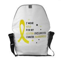 Childhood Cancer Awareness Meet My Hero Fightings Courier Bag