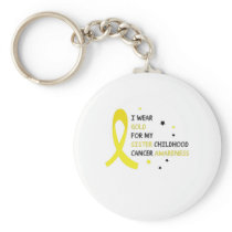Childhood Cancer Awareness Meet My Hero Fightings Keychain