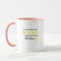 Childhood Cancer Awareness Meet My Hero Fightings Mug