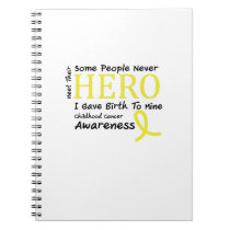 Childhood Cancer Awareness Meet My Hero Fightings Notebook