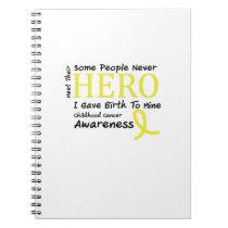 Childhood Cancer Awareness Meet My Hero Fightings Notebook