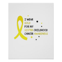 Childhood Cancer Awareness Meet My Hero Fightings Poster