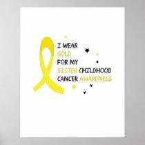 Childhood Cancer Awareness Meet My Hero Fightings Poster