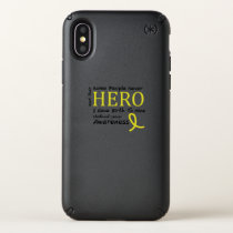 Childhood Cancer Awareness Meet My Hero Fightings Speck iPhone X Case
