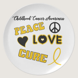 Childhood Cancer Awareness Melamine Plate